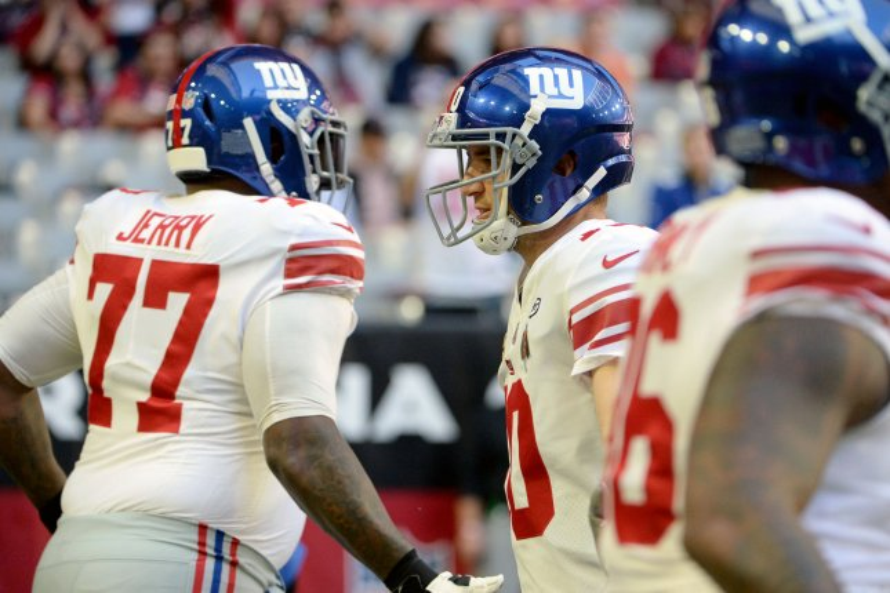 Former New York Giants left guard John Jerry spent four seasons protecting quarterback Eli Manning. File Photo by Art Foxall/UPI