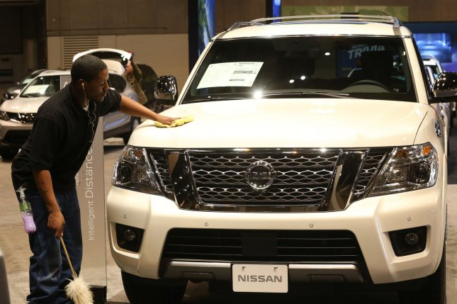 Nissan's first-quarter net income declined by 95 percent, compared to the same period last year. File Photo by BIll Greenblatt/UPI