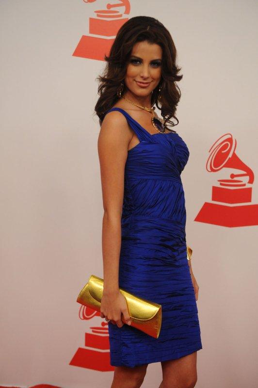 Stefania Fernandez, 2009 Miss Universe from Venezuela, arrives at De Fiesta With Juan Gabriel, an event honoring Juan Gabriel's philanthropic, cultural and music accomplishments in Las Vegas, Nevada on November 4, 2009. UPI/Jim Ruymen