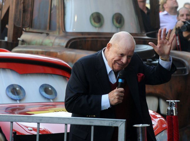 Actor and comedian Don Rickles makes comments during an unveiling ceremony honoring director John Lasseter with the 2,453rd star on the Hollywood Walk of Fame in Los Angeles on November 1, 2011. UPI/Jim Ruymen