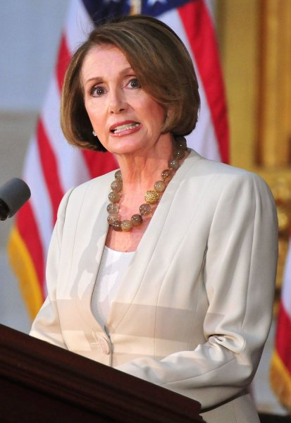 House Minority Leader Nancy Pelosi (D-CA), who sees future electoral victories in health care reform. UPI/Kevin Dietsch