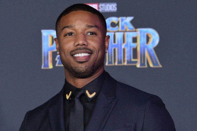 Cast member Michael B. Jordan attends the premiere of Black Panther in Los Angeles on January 29. The film has been No. 1 at the North American box office for five weekends. File Photo by Jim Ruymen/UPI