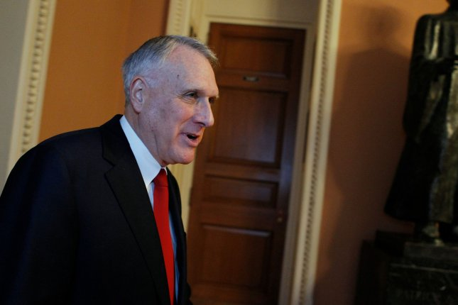 Sen. Jon Kyl was sworn in Wednesday to fill the open seat left by Sen. John McCain, who died after a battle with brain cancer. File Photo by Molly Riley/UPI