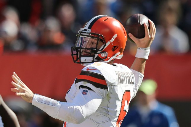Baker Mayfield and the Cleveland Browns host the Kansas City Chiefs on Thursday. Photo by Aaron Josefczyk/UPI
