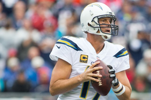 Philip Rivers and the visiting Los Angeles Chargers overtook the Kansas Chiefs in the final moments on Thursday night. Photo by Matthew Healey/UPI