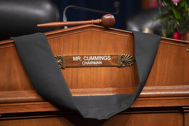 Rep. Elijah Cummings, D-Md., died Thursday after longstanding health issues. Photo by Kevin Dietsch/UPI