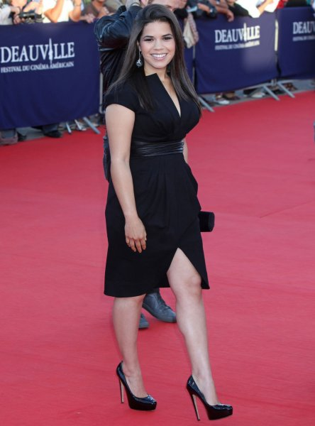America Ferrera arrives on the red carpet before a screening of the film Fair Game during the 36th American Film Festival of Deauville in Deauville, France on September 9, 2010. UPI/David Silpa