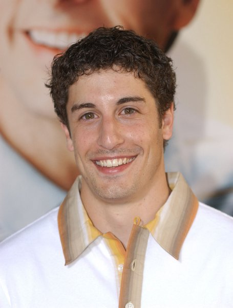 Jason Biggs arrives at the The World Premiere of The 40 Year-Old Virgin Aug. 11, 2005, in Los Angeles. (UPI Photo/John Hayes)