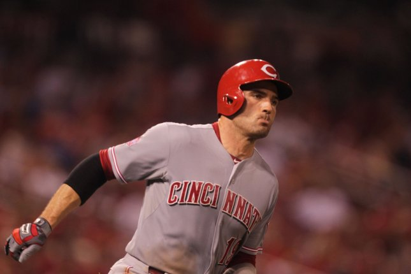 Cincinnati Reds first baseman Joey Votto. Photo by Bill Greenblatt/UPI