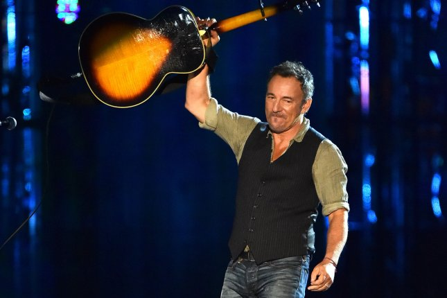 Bruce Springsteen performs during the Concert for Valor on the National Mall on Veteran's Day, November 11, 2014, in Washington, D.C. File photo by Kevin Dietsch/UPI