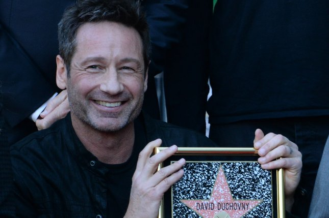 Twin Peaks and The X-Files star David Duchovny at an unveiling ceremony honoring him with the 2,572nd star on the Hollywood Walk of Fame in Los Angeles on January 25, 2016. File photo by Jim Ruymen/UPI