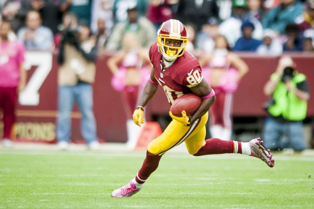 Washington Redskins' wide receier Jamison Crowder might be the least well-known of Washington's receiving weapons, but he had 59 receptions as a rookie and has been targeted by quarterback Kirk Cousins 18 times in two games. Photo by Pete Marovich/UPI