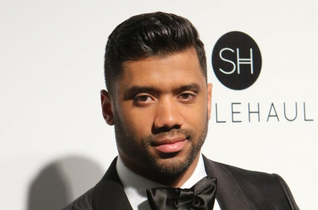 Seattle Seahawks Quarterback Russell Wilson arrives for the Elton John Aids Foundation's 25th annual Academy Awards viewing party at West Hollywood Park in Los Angeles on February 26, 2017. Photo by Howard Shen/UPI