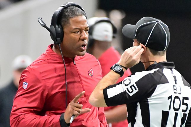 The Arizona Cardinals fired first-year head coach Steve Wilks in December after a 3-13 season. Photo by David Tulis/UPI