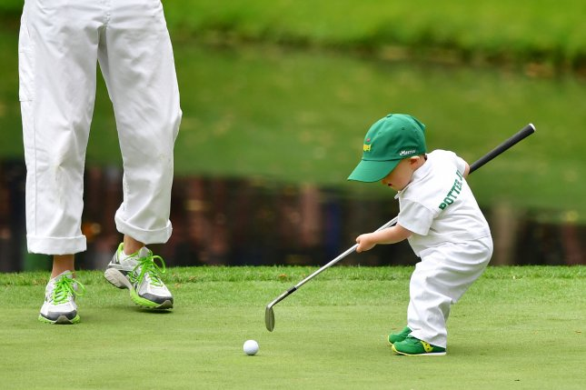 Young golfers like Corbin Potter, son of Ted Potter Jr., (shown in 2018), have the chance to show their skills during the annual Masters Par 3 contest at Augusta National Golf Club in Augusta, Ga. File Photo by Kevin Dietsch/UPI