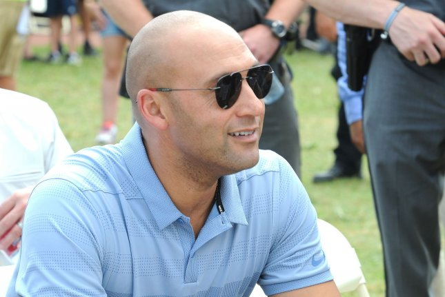 Former New York Yankees great Derek Jeter (pictured) built a 30,000-square foot mansion on Davis Islands in Tampa, Fla. He is letting new Tampa Bay Buccaneers quarterback Tom Brady and his family rent the home. File Photo by George Napolitano/UPI