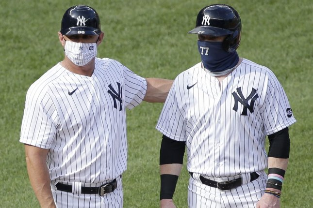 The New York Yankees are among the 15 Grapefruit League teams that will compete in a protective pod on the west coast of Florida as a safety precaution for COVID-19. File Photo by John Angelillo/UPI