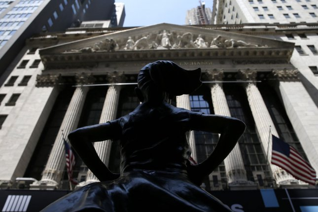 The Dow Jones Industrial Average rose 586 points as U.S. markets rallied after losses in response to the Federal Reserve changing its interest rate policy last week. Photo by John Angelillo/UPI
