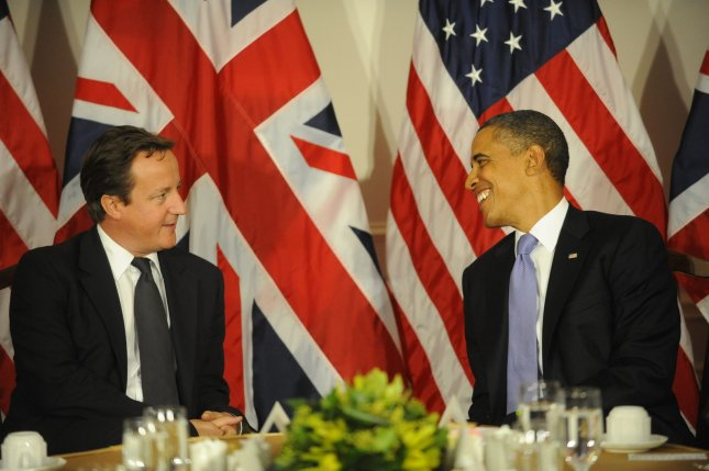 U.S. President Obama and British Prime Minister David Cameron planned to attend an NCAA First Four game at the University of Dayton Arena, the White House said. Sept. 21 file photo. UPI/Aaron Showalter/Pool