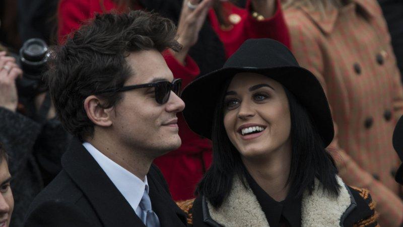 John Mayer and Katy Perry in January. UPI/Mannie Garcia