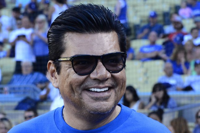 Actor George Lopez attends the Los Angeles Dodgers vs. Boston Red Sox game at Dodger Stadium in Los Angeles, on August 25, 2013. UPI/Jim Ruymen