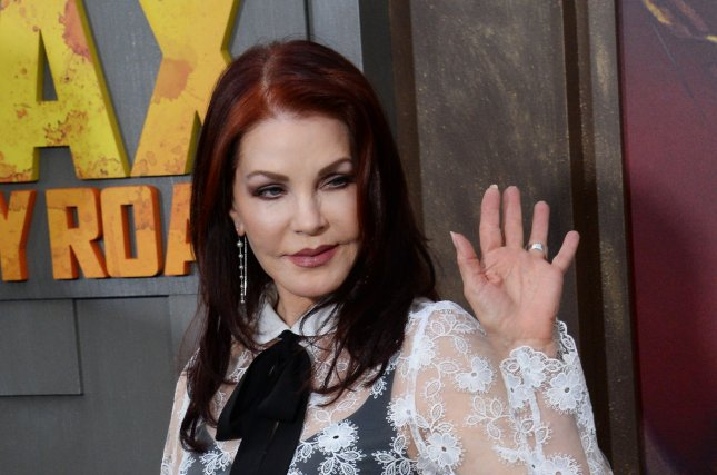 Priscilla Presley at the Los Angeles premiere of 'Mad Max: Fury Road' on May 7, 2015. The actress discussed her marriage to Elvis Presley in an interview this week. File photo by Jim Ruymen/UPI