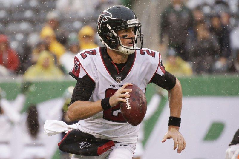 Matt Ryan and the Atlanta Falcons take on the Carolina Panthers this weekend. Photo by John Angelillo/UPI