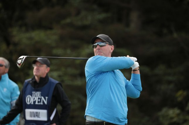 David Duval said his performance at the British Open on Thursday was unsettling. Photo by Hugo Philpott/UPI