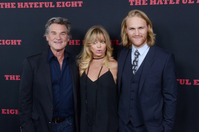 Actor Wyatt Russell, pictured here with his famous parents Kurt Russell and Goldie Hawn, married Meredith Hagner over the weekend, File Photo by Jim Ruymen/UPI