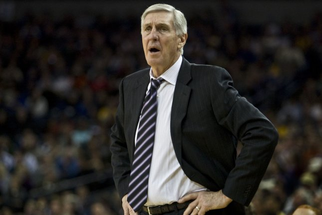 Former Utah Jazz coach Jerry Sloan died Friday after a battle with dementia and Parkinson's disease. File Photo by Terry Schmitt/UPI