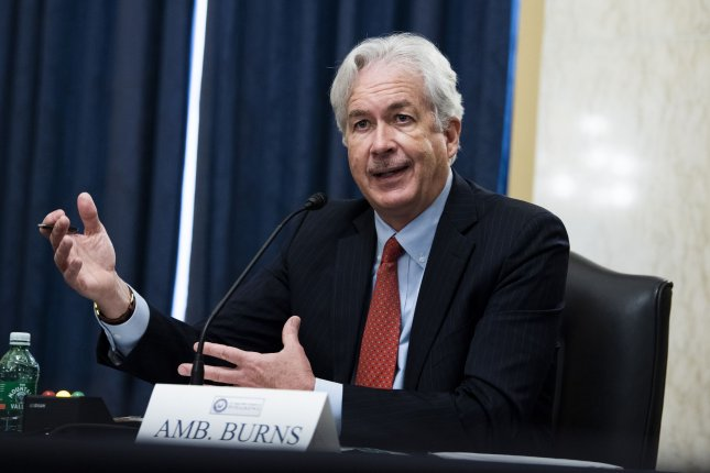 The Senate confirmed William Burns, pictured, to serve as CIA director and Brian McKeon as deputy secretary of state after Sen. Ted Cruz lifted holds on both of President Joe Biden's nominees.File Pool Photo by Tom Williams/UPI