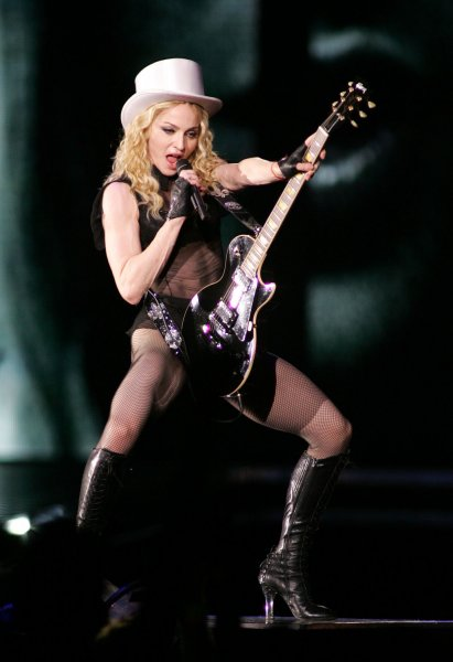 Madonna performs in concert at the last stop of her Sticky & Sweet tour at Dolphin Stadium in Miami on November 26, 2008. (UPI Photo/Michael Bush)