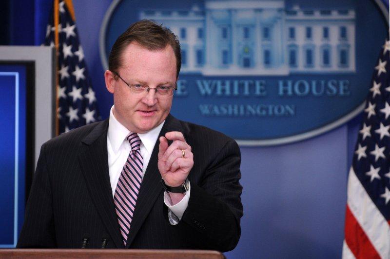 White House Press Secretary Robert Gibbs (UPI Photo/Kevin Dietsch)