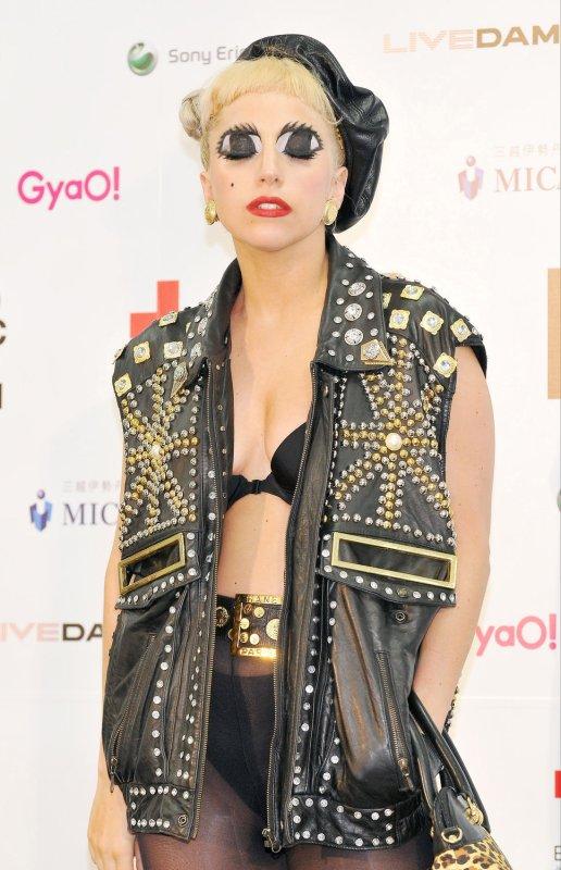 Lady Gaga. File/UPI/Keizo Mori