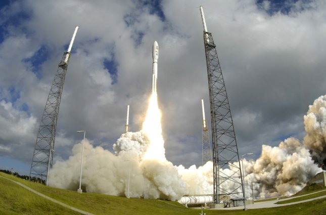 A United Launch Alliance Atlas V rocket launches NASA's Mars Science Laboratory at 10:02 AM from Complex 41 at the Cape Canaveral Air Force Station, Florida on November 26, 2011. The growth of the aerospace industry, along with the defense industry worldwide, is expected to slow in 2012. UPI Photo/Joe Marino-Bill Cantrell