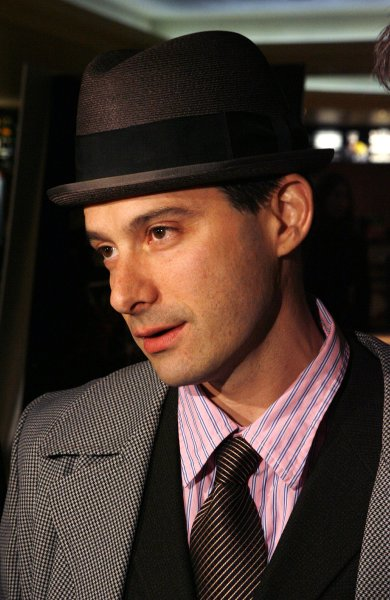 The Beastie Boys Adrock (Adam Horovitz), speaks during an interview at the premiere of Awesome; I F**kin' Shot That at Loews 34th Street Theater in New York City on March 28, 2006. (UPI Photo/John Angelillo)
