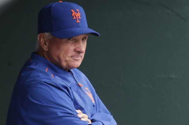 New York Mets manager Terry Collins became the club's longest serving manager on Saturday. Photo by John Angelillo/UPI