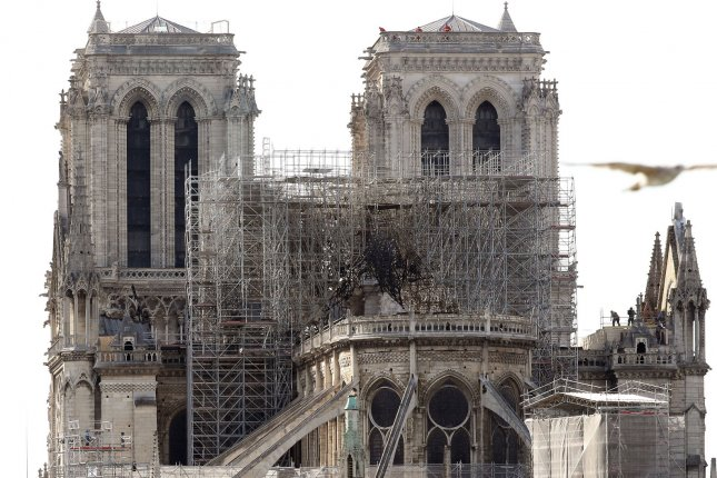 Notre Dame Cathedral will not hold Christmas services for the first time since 1803 after a fire collapsed the roof and the 750-ton spire of the iconic church. File Photo by Eco Clement/UPI