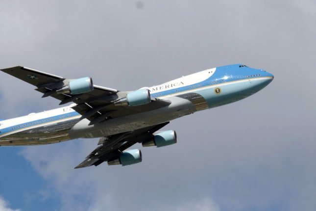 Air Force investigators said they were questioning an intruder who breached the security perimeter at Joint Base Andrews the day before President Joe Biden was to travel on Air Force One. File Photo by Gary I Rothstein/UPI