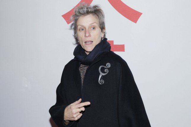 Frances McDormand plays Fern in the film Nomadland, which received three awards at the TFCA Awards. File Photo by John Angelillo/UPI