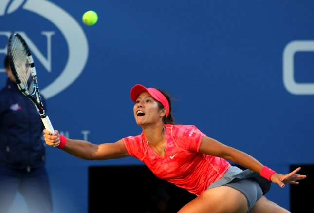 Li Na, shown at the 2013 U.S. Open, lost only one game Tuesday in a second-round match of the China Open. UPI/Monika Graff