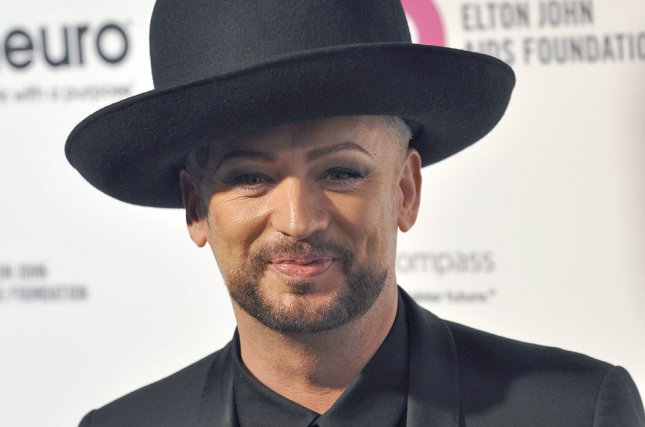 Boy George arrives at the Elton John Aids Foundation's 24th Annual Academy Awards viewing party at the City of West Hollywood Park in West Hollywood on February 28, 2016. Boy George was a finalist on Celebrity Apprentice. He lost to Matt Iseman on Monday night. File Photo by Christine Chew/UPI