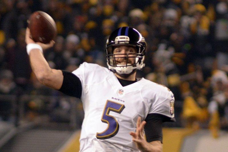 new arrivals 420b4 cc1e8 Baltimore Ravens: QB Joe Flacco resumes throwing with opener ...