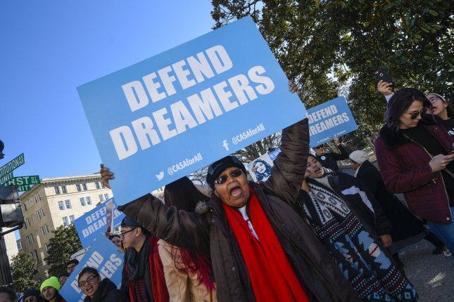 The legislation would provide a 10-year path to citizenship for people protected under the Deferred Action for Childhood Arrivals. File Photo by Leigh Vogel/UPI