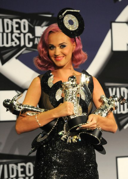 Katy Perry appears backstage at the 2011 MTV Video Music Awards at the Nokia Theatre in Los Angeles on August 28, 2011. Perry won three MTV Moonmen awards including the biggest prize of the night for Video of the Year with Fireworks as well as honors for Best Collaboration and Best Special Effects. UPI/Jayne Kamin-Oncea