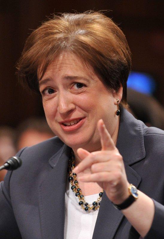 Associate Supreme Court Justice Elena Kagan in 2010. UPI/Kevin Dietsch