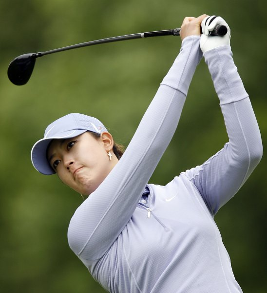Michelle Wie, shown in a 2009 file photo, won the Canadian Women'/s Open on Sunday and jumped from 12th to seventh int he latest world women's golf rankings. (UPI Photo/John Angelillo)