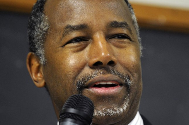 Retired neurosurgeon Dr. Ben Carson announced Thursday that he is cutting his campaign staff in half and reducing expenses. Photo by Mike Theiler/UPI