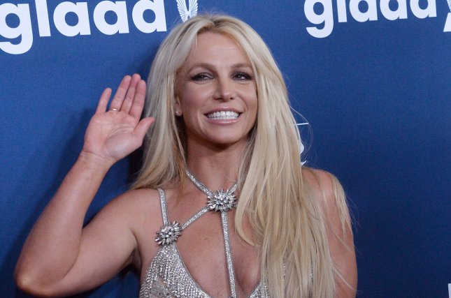 Honoree Britney Spears attends the GLAAD Media Awards on Thursday in Los Angeles. Photo by Jim Ruymen/UPI