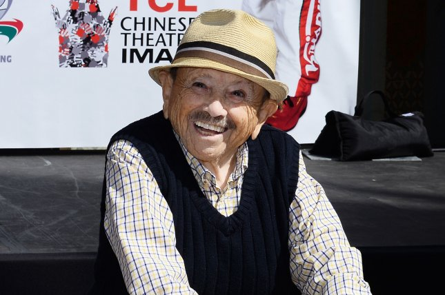 Jerry Maren, who played a member of the Lollipop Guild in The Wizard of Oz has died at age 98. Maren was the last surviving actor who played a Munchkin in the film. File Photo by Jim Ruymen/UPI